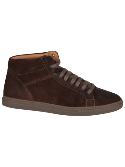 High-Top Sneaker in Veloursleder in BRAUN