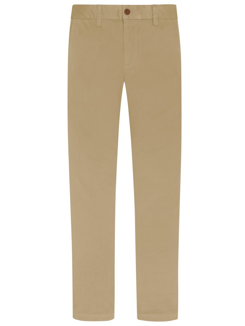Chino mit 'Compact Cotton', Lou, Regular Slim Fit in BEIGE