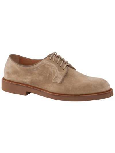 Businessschuh, Derby, in Veloursleder in BEIGE