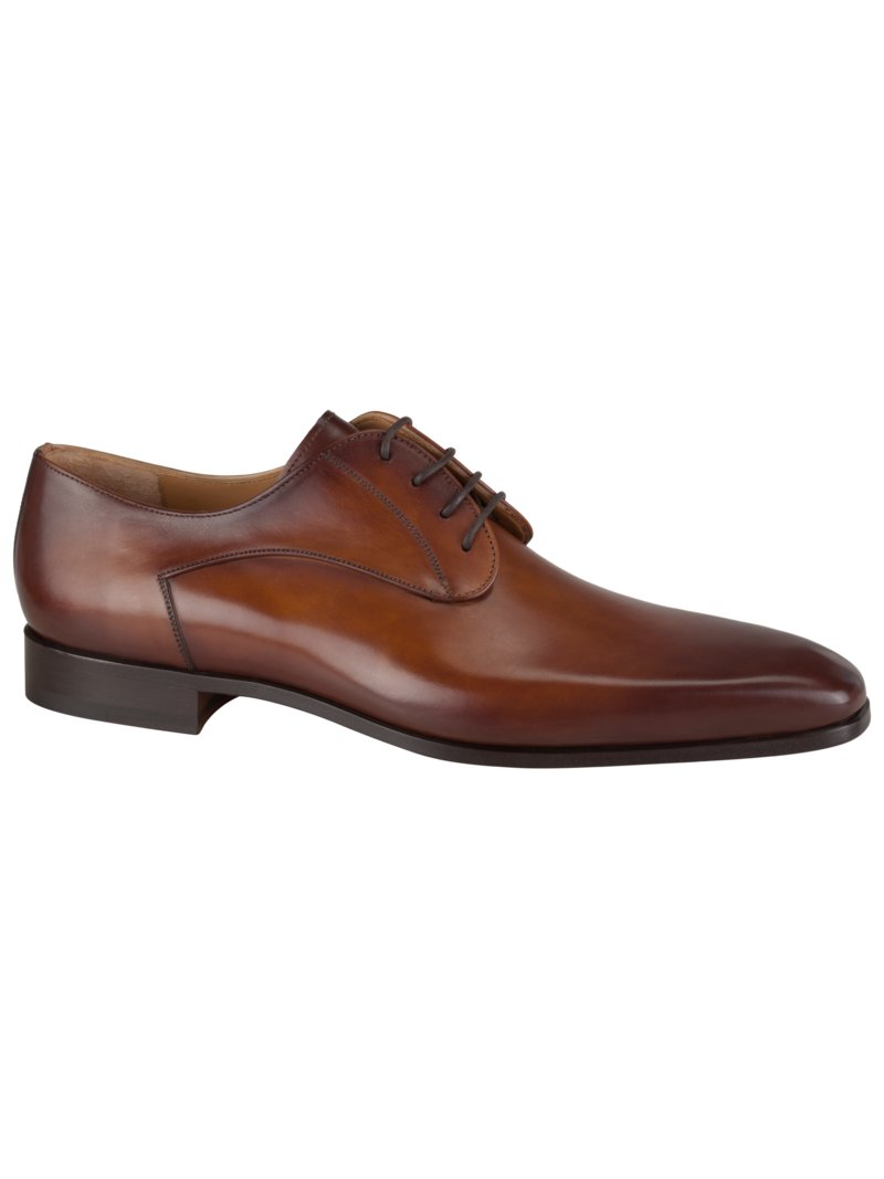Eleganter Lederschuh, Wellington in COGNAC
