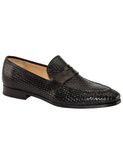 Loafer im Flecht-Design in SCHWARZ