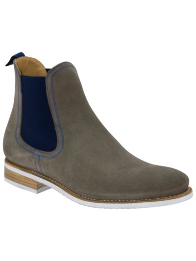 Chelseaboots in Veloursleder in GRAU