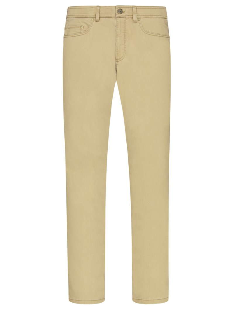 5-Pocket Jeans mit Stretchanteil, Luke-S, Regular Fit in BEIGE