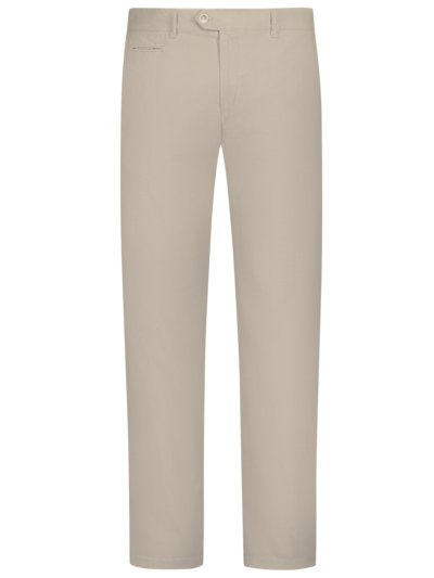 Leichte Chinohose in Minimalstruktur, Everest U in BEIGE