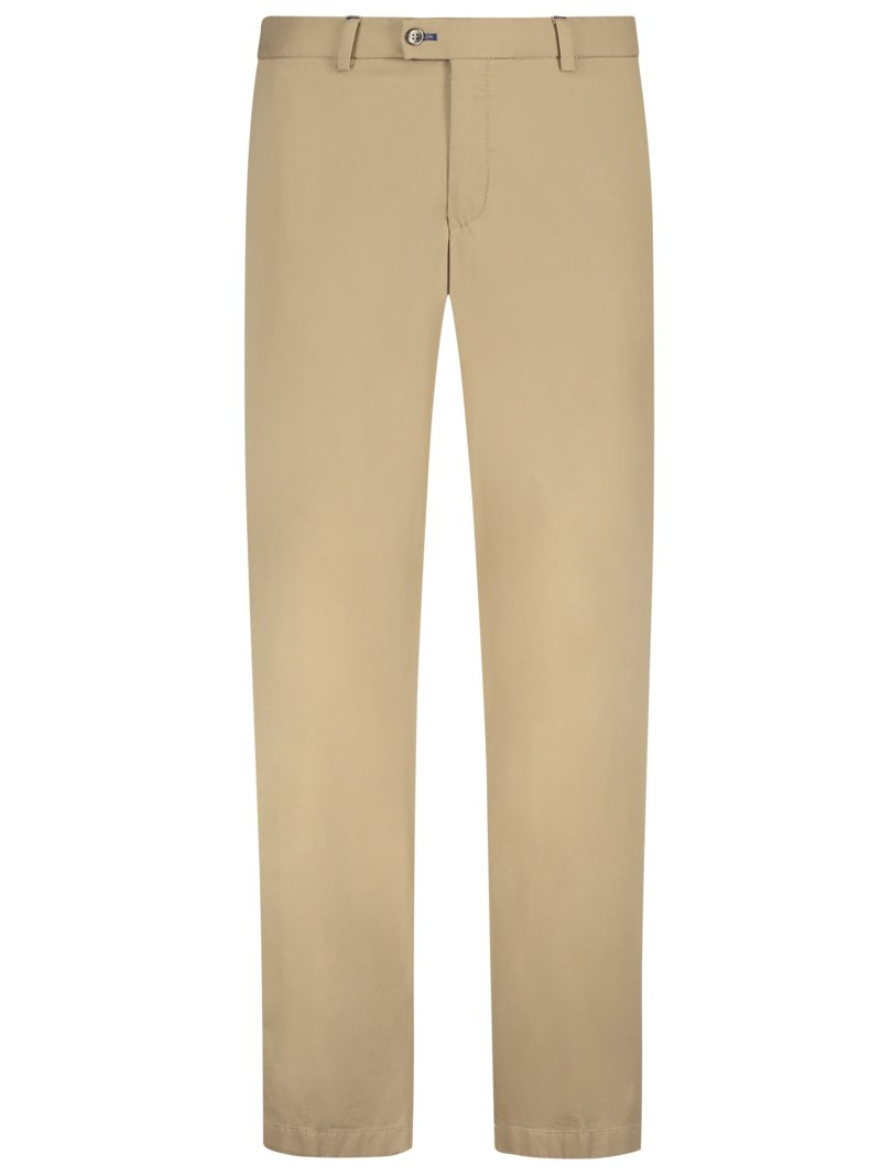 Chinohose mit Stretchanteil, Pilo, Regular Fit in BEIGE