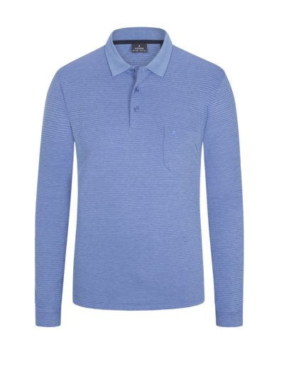 Poloshirt, langarm in ROYAL