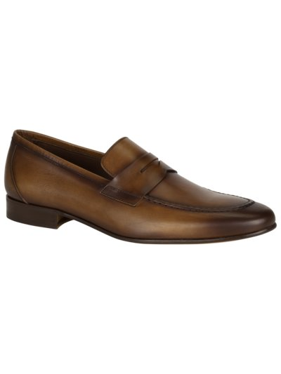 Penny Loafer in Leder in BRAUN
