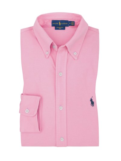Freizeithemd, Button-Down-Kragen in ROSA