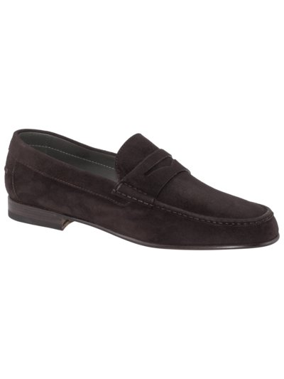Loafer aus Velours-Leder in BRAUN