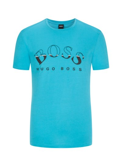T-Shirt mit Frontprint in AQUA
