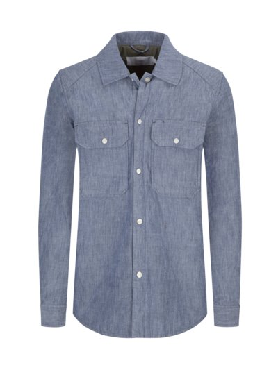 Overshirt im Denim-Look in BLAU
