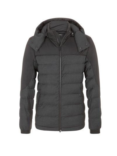 Steppjacke mit Techmerino in ANTHRAZIT