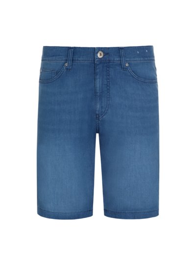 Jeans-Bermuda mit Lyocell-Anteil, Straight Fit in DENIM