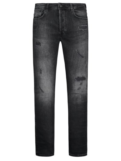 Jeans im Used-Look, Ego Colombo, Slim Fit in STONE