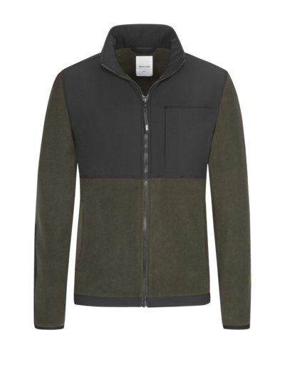 Fleece-Jacke in OLIV