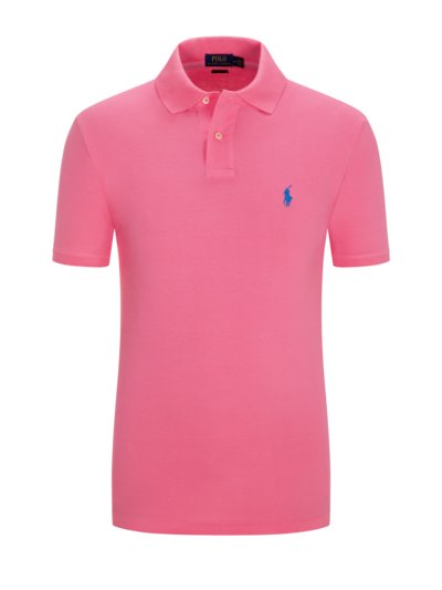 Poloshirt im Neon-Design, Slim Fit in PINK