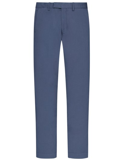 Chinohose mit Stretchanteil, Slim Fit in BLAU