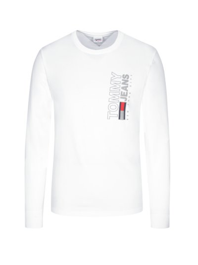 Sweatshirt mit Logo-Applikation in WEISS