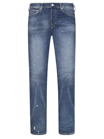 Modische Washed-Jeans, Rocco, Relaxed Skinny in STONE