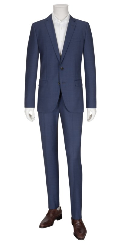 Businessanzug in kleinem Pepita-Muster, Slim Fit in ROYAL