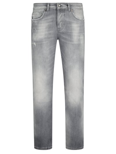 Jeans in Used-Optik, U2, Slim Fit in GRAU