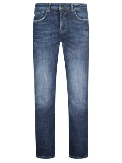 Denim-Jeans, Jungbusch, Tapered Fit in BLAU