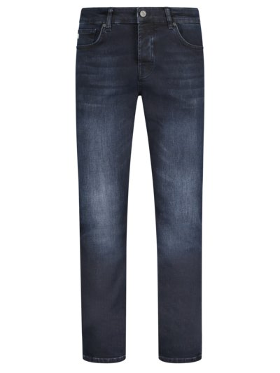 Denim-Jeans, Jungbusch, Tapered Fit in MARINE