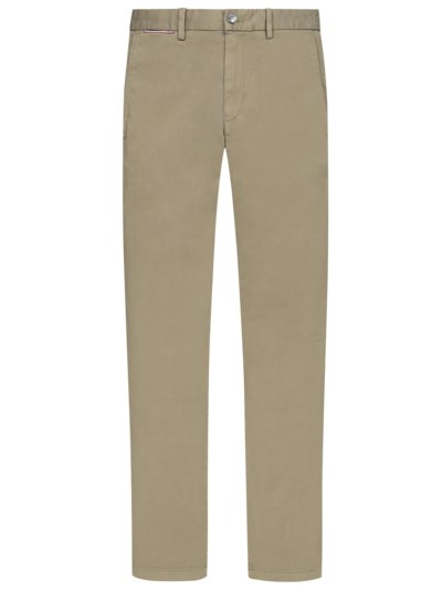 Chino im Washed-Look in KHAKI