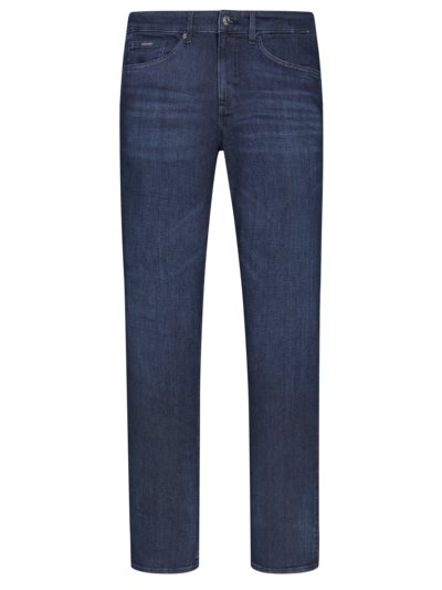 Jeans mit Stretchanteil, Kaschmir-Touch, Slim Fit in STONE