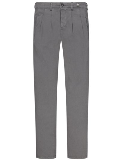 Chino mit Muster, Regular Fit in GRAU