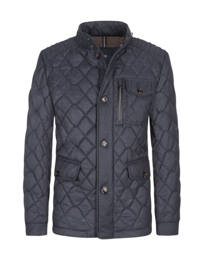 Steppjacke in Woll-Optik in MARINE