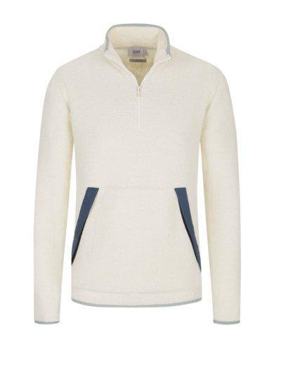Troyer aus Fleece-Stoff in OFFWHITE
