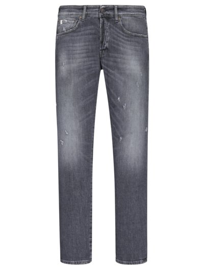 Jeans im Destroyed-Look, Dylan, Slim Fit in ANTHRAZIT