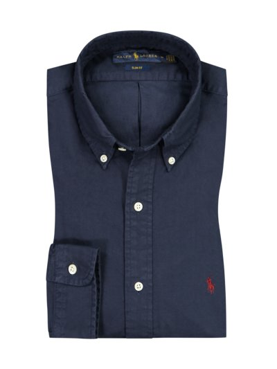 Oxford-Hemd, Slim Fit, extra leicht in MARINE