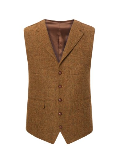 Harris Tweed-Weste in HELLBRAUN
