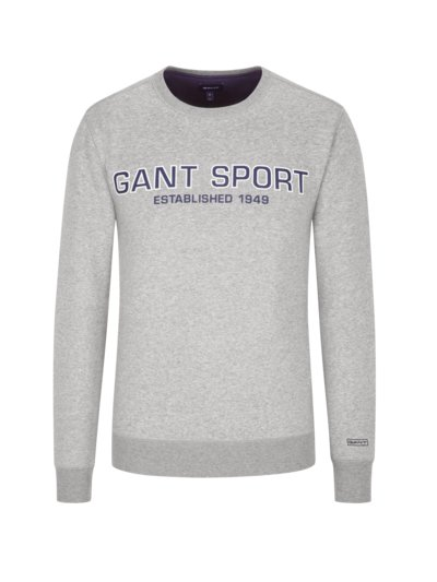 Sweatshirt mit Logo-Applikation in GRAU