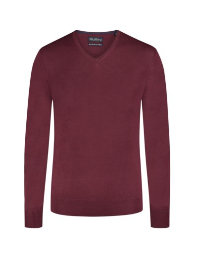Pullover, Slim Fit in ROT