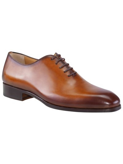 Businessschuh, Wholecut Oxford in COGNAC