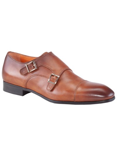 Doppelmonk Businessschuh in COGNAC