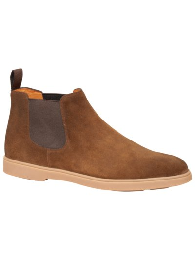 Chelseaboot in Veloursleder in BRAUN