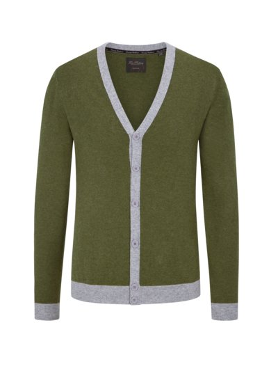 Cardigan in reinem Kaschmir in OLIV