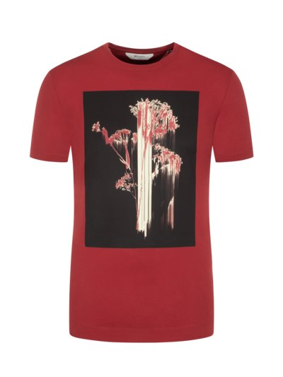 T-Shirt mit Frontprint in ROT