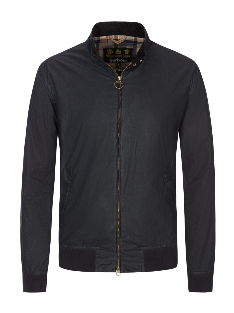 Klassischer Blouson in Lightweight-Wax in OLIV