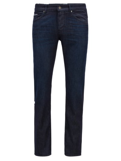 Jeans, Slim Fit in DUNKELBLAU