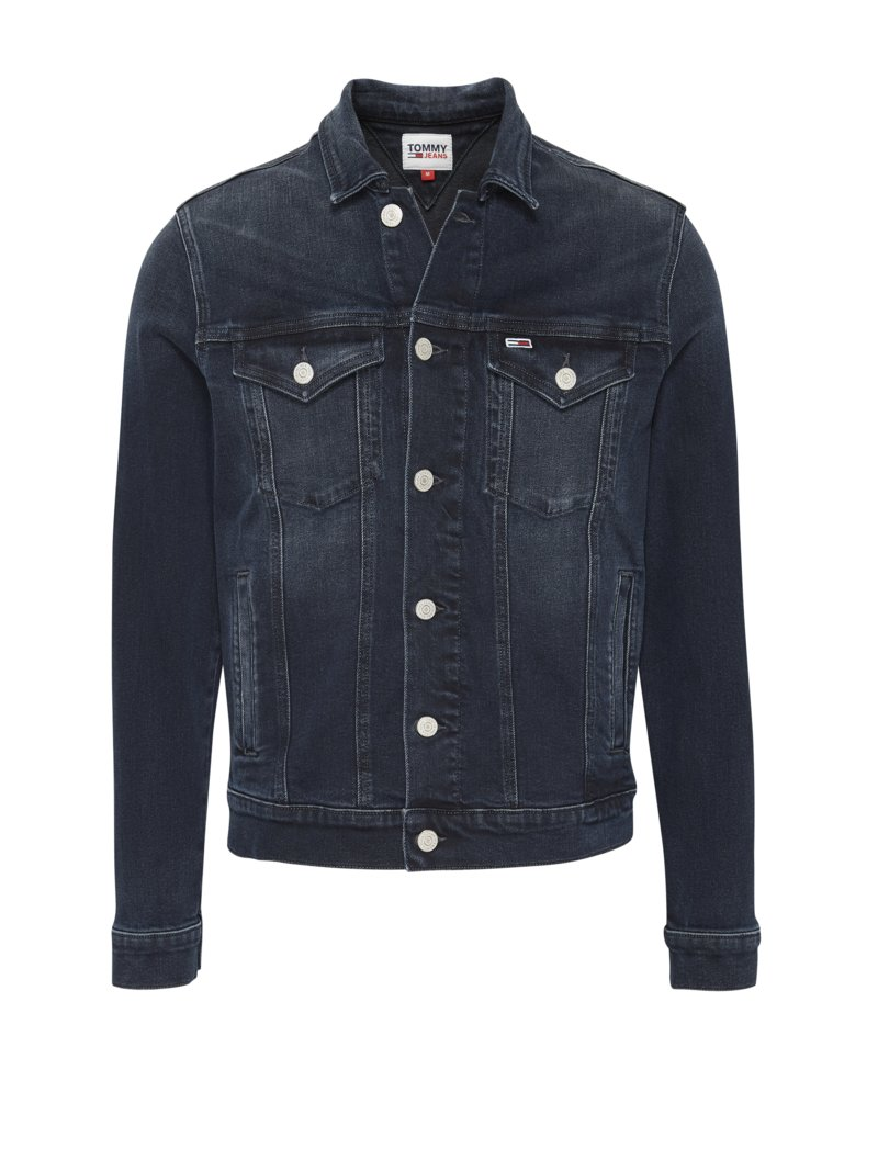 Jeansjacke im Washed-Look in MARINE
