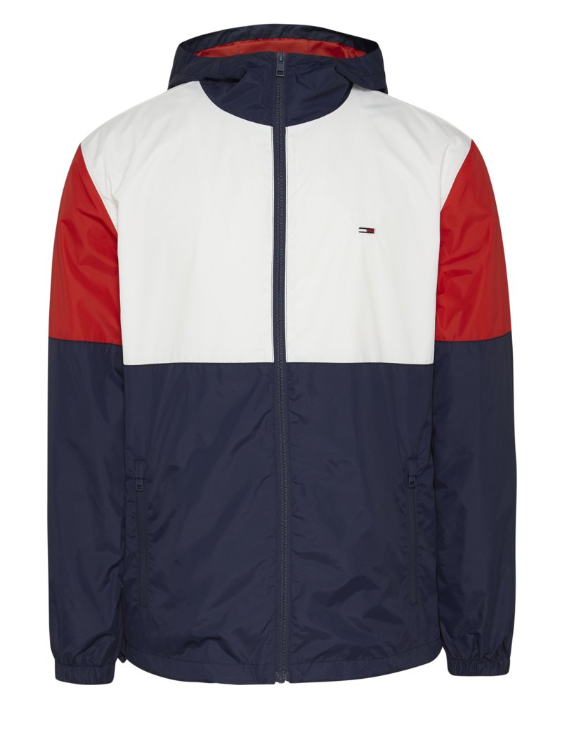 Freizeitjacke im Colourblocking, Windbreaker in MARINE