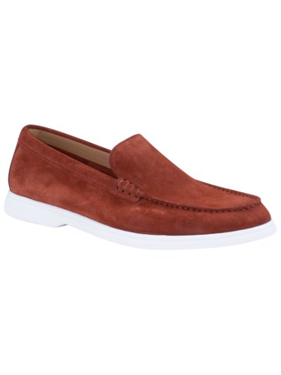 Loafer in Veloursleder in ROT