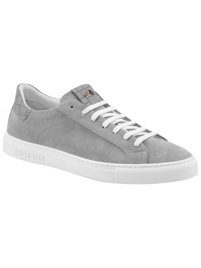 Sneaker in Velours-Leder in GRAU
