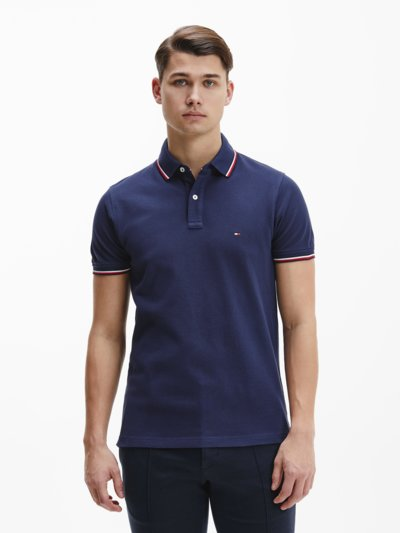 Klassisches Poloshirt, Slim Fit in MARINE