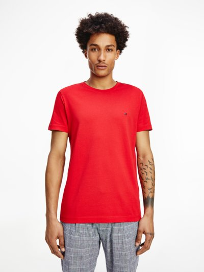 T-Shirt mit Print in ROT